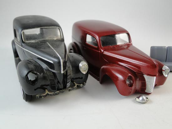Vintage 1930s Sedan Delivery Truck Car Model Built Pro Paint AMT Set